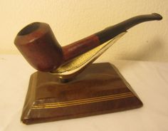Vintage Real Briar Bent Chimney Billiard Shape Estate Tobacco Smoking Pipe NICE