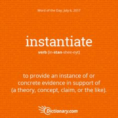 instantiate