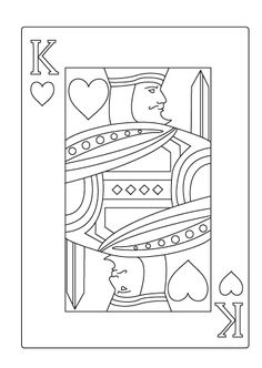 free coloring pages king of hearts | QUENNOFHARTES | King and Queen of Hearts Playing Cards ...