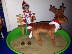 Image result for elf on the shelf returns with Saint Bernard