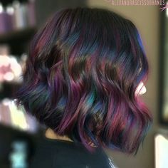 Opal oil slick hair color OMG in my dreams! Ombré Hair, Hair Dos, Haircut And Color, Great Hair, Hair Today, Purple Hair, Gorgeous Hair, Pretty Hairstyles, Latest Hairstyles