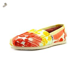 Toms Women's Classics Palm Trees Orange Casual Shoe 6 Women US - Toms flats for women (*Amazon Partner-Link)