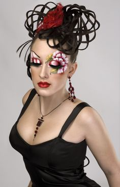 crazy makeup...that I am not sure I would ever be able to do =S