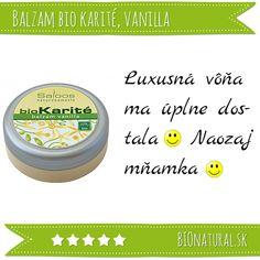 Hodnotenie bi karité balzamu vanilka od #Saloos http://www.bionatural.sk/balzam-vanilla-p-467.html#hodnotenie