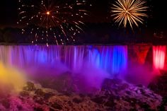 Niagara Falls Fireworks On Canada Day Niagara Falls At Night, Canada Day Fireworks, Canada Pictures, Fall Photos, Day Tours, Beautiful Places, Amazing Places, Beautiful Sites, The Good Place