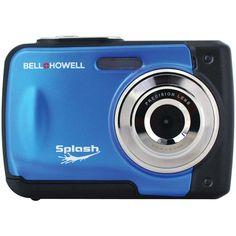 BELL+HOWELL WP10-BL 12.0-Megapixel WP10 Splash Waterproof Digital Camera (Blue)