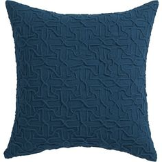 """CB2 Woolsley Blue-Green 18"""" Pillow With Feather-Down Insert ($50) ❤ liked on Polyvore"""
