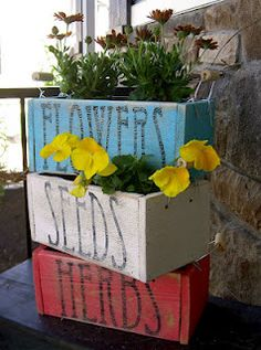 Love this idea for flower and herb boxes! via CHAPMAN PLACE...