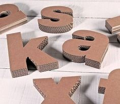 Pin on Diy home crafts Cardboard Letters, Diy Letters, Cardboard Crafts, Paper Crafts, Diy Home Crafts, Crafts For Kids, Do It Yourself Decoration, Cardboard Furniture, Diy Birthday
