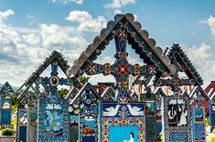 The Merry Cemetery is different from the usual cemeteries. Located in Romania, it is a colorful and unique beautiful cemetery. Painted Wooden Crosses, Romania People, Best Sci Fi Movie, Famous Castles, Wonderful Places, Amazing Places, Beautiful World, Places To See, City Photo