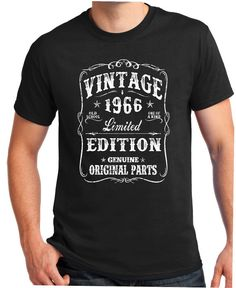50th Birthday Gift - Shirt Turning 50 - 50 Years Old - VINTAGE 1966 Shirt - Tee - Gift for Him - Limited Edition brother born in 1966  Most of the colors are Printed on a Gildan 6.1-ounce, 100% cotton Seamless double-needle 7/8 collar Double-needle sleeves and hem Taped neck and shoulders Heathered colors are 50/50 cotton/poly Black t-shirts are printed on the Hanes Beefy-T