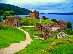 Urquhart Castle in Loch Ness, Scotland; one of my forefathers, a Forbes who married Mary Douglas, daughter of Princess Mary, died here defending it from the English. Loch Ness Scotland, Places In Scotland, Scotland Castles, Scottish Castles, Scotland Travel, The Places Youll Go, Places To See, Lago Ness, Urquhart Castle
