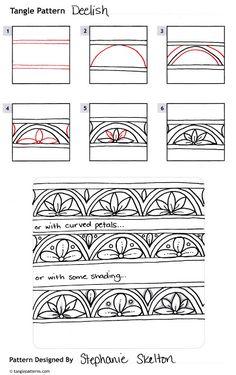 Musings: Deelish Tangle Pattern
