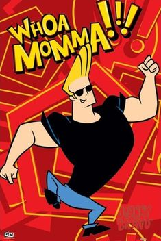 Johnny Bravo is the narcissistic, buff, intellectually challenged protagonist of the Johnny Bravo TV Series. Time Cartoon, Cartoon Shows, Cartoon Ideas, Johnny Bravo Cartoon, Johny Bravo, Comic Script, Old Cartoon Network, Cartoon Painting, Old Cartoons