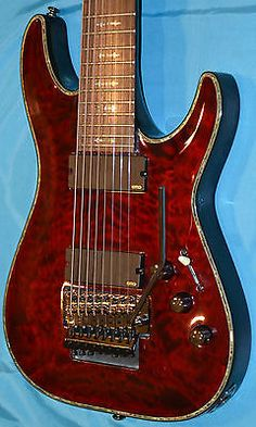 Schecter Hellraiser C-8 Fr 8-string Red Electric Guitar - Layaway Available - http://www.8stringguitar.org/for-sale/schecter-hellraiser-c-8-fr-8-string-red-electric-guitar-layaway-available-2/25544/