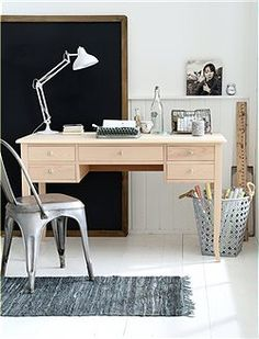 beautiful wooden desk. i like the placement of the drawers but i dont think there's enough desk space for me