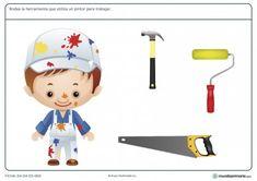 Ficha de herramientas del pintor para primaria