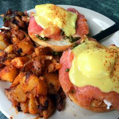 Smoked Salmon Benedict with Country Roasted Potatoes [OC] #food #foodporn #recipe #cooking #recipes #foodie #healthy #cook #health #yummy #delicious