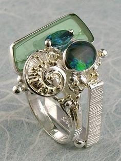 Gregory Pyra Piro #Konst #Smycken Sterlingsilver och Guld med Opal #Ring Nr. 3894