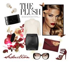"""""""Red Beauty"""" by laurenleigh-bee on Polyvore featuring Charlotte Tilbury, River Island, Miss Selfridge, Jaeger, Rebecca Minkoff, arbū and Gucci"""