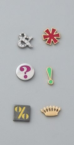 Juicy Couture Mismatched Symbols Studs - StyleSays