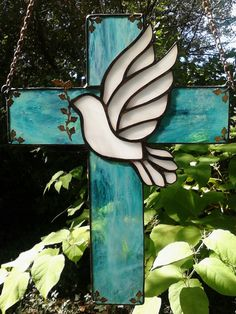 Stained Glass cross I made as a donation to a Church Fundraiser for families in need.