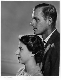 Queen Elizabeth II (Elizabeth Alexandra Mary) UK & Prince Phillip Duke of Edinburgh (Philip Mountbatten-born Prince Philip) Greece, by Yousuf Karsh. Edinburgh, Princesa Elizabeth, Prinz Philip, Isabel Ii, Queen Of England, Royal Family Of England, Her Majesty The Queen, English Royalty, Royal Families