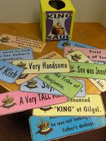 Hands On Bible Teacher: Tissue Box Turned Review Game!!!! KING SAUL