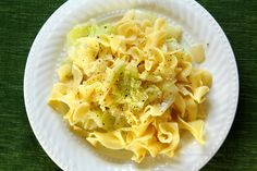 Haluski (Cabbage and Noodles).. I grew up on this stuff and it's delicioso. My Polish Mom started to add some crumbled bacon to it and WOW that is one great addition :) Though I don't make homemade noodles like Mom, store bought works fine.