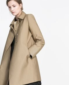 Image 4 of COTTON TRENCH COAT from Zara
