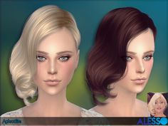 Aphrodite Hair by Alesso at TSR via Sims 4 Updates