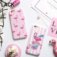 """LACK Fashion Cartoon Flower Stripe Dot Colorful Flamingo Case Cover For iPhone 6 6S Plus 4.7/5.5"""" Soft IMD Phone Cases & bags //Price: $3.83//     #onlineshop"""