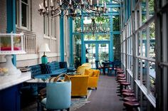 Love the ambiance of this patio area. It's the Ocho Lounge at the Hotel Havana in San Antonio. Could definitely see myself lounging there with a lovely mojito.