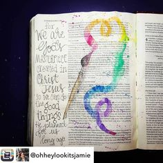 #repost @ohheylookitsjamie Congratulations! Your werk has been chosen #mostbeautiful #mooistevanvandaag. Do you want to be chosen 2? Follow me, tag me in your work and : who knows? #bible #biblejournaling #bijbel #artworkinmybible #art #journaling #biblejournalingcommumity #biblejournalinggroep #biblejournalinggroup #faith #illustratedfaith