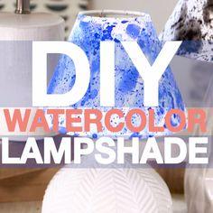 DIY Watercolor Lampshade
