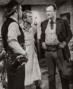 Lee Marvin, James Stewart y John Wayne, en El hombre que mató a Liberty Valance (1962)