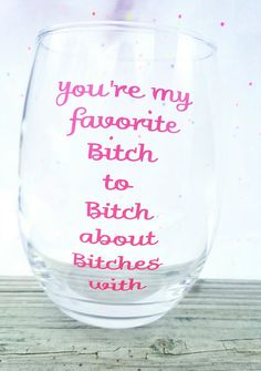 Hey, I found this really awesome Etsy listing at https://www.etsy.com/listing/269772044/stemless-wine-glass-youre-my-favorite