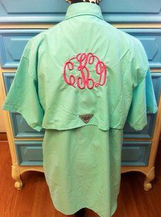 Fishing shirts fishing and i had on pinterest for Custom embroidered columbia fishing shirts