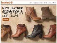 Timberland home page