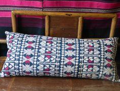 African handwoven indigo cotton bolster Sally Campbell, Handmade Textiles - News