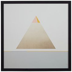 Modern Gold Pyramid Triangle Print 12 x 12 Black Frame ** Check this awesome product by going to the link at the image.-It is an affiliate link to Amazon. #WallArt