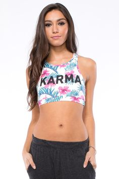 Pin for Later: Beachy Hues and Ocean Blues: Vacation-Inspired Activewear Spiritual Gangster Karma Racer Bra Spiritual Gangster Karma Racer Bra ($48)