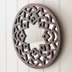 Add some light and space into your home with those pretty carved wooden mirror. Traditional Indian style carvings in mango wood create an interesting mirror. Wall Mounted Mirror, Mirror Mirror, Light And Space, Round Mirrors, Repeating Patterns, Home Accessories, Wall Decor, Carving, Wood