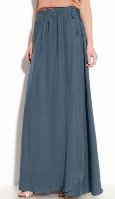 long silk truw wrap skirt