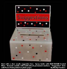Suggestion Box                                                                                                                                                     More