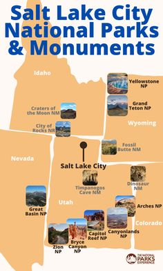 Check out all 12+ national parks and monuments within five hours from Salt Lake City, Utah!