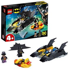LEGO-La Poursuite du Pingouin en Batbateau DC Comics Super Heroes 4 Jeux de Construction 76158 Multicolore Lego Batman, Spiderman, Lego Marvel, Batman Vs, Dc Universe, Lego Dc Comics, Super Hero Day, Building Toys For Kids, Construction Lego