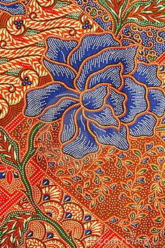 Photo about Detailed Batik Pattern, Yogyakarta, Indonesia. Image of drawing, decor, backgrounds - 13804340 Motifs Textiles, Textile Patterns, Textile Prints, Print Patterns, Shibori, Indonesian Art, Batik Art, Traditional Fabric, Motif Floral
