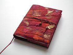 Notebook, Sketchbook, Journal, Diary Cover, A5, Handmade Felt, 'Rioja' £35.00