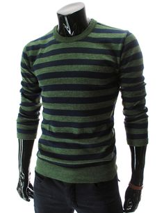 :::: Theleesshop :::: (SG01-GREEN) Slim Fit Wool Knit Tshirts